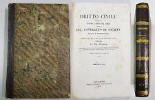 Troplong DIRITTO CIVILE CONTRATTO DI SOCIETA' CIVILE E COMMERCIALE Livorno 1843
