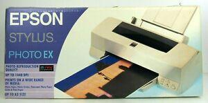 NEW-Sealed-vtg-Epson-Stylus-Photo-Ex-Color-Printer-w-cartridges-1440DPI-Up-to-A3