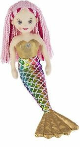 Ganz E1 Shimmer Cove Girl 18in Plush Stuffed Mermaid Toy Doll - Rain H14458