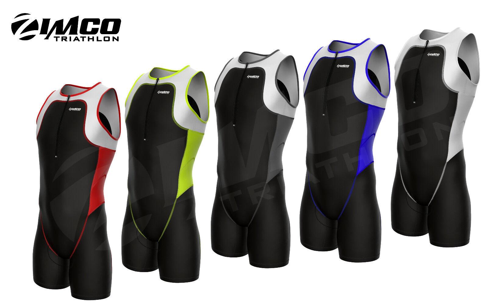 Zimco Elite Men Triathlon Suit Racing Tri Suit Triathlon Short Tri Swim Run 7050