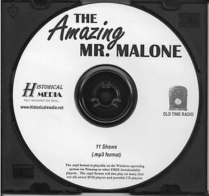 AMAZING-MR-MALONE-11-Shows-Old-Time-Radio-In-MP3-Format-OTR-On-1-CD