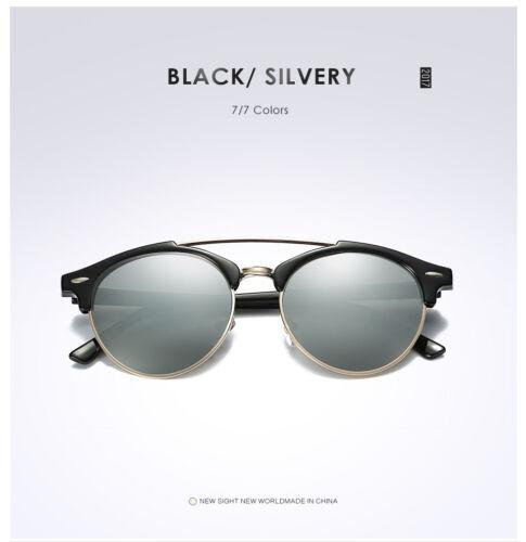 Double Bridge Designer Fashion Eyewear Retro Mens Womens Polarized Sunglasses