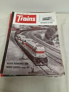 Vintage-034-TRAINS-034-THE-MAGAZINE-OF-RAILROADING-1956-Complete-Set-of-12-Issues