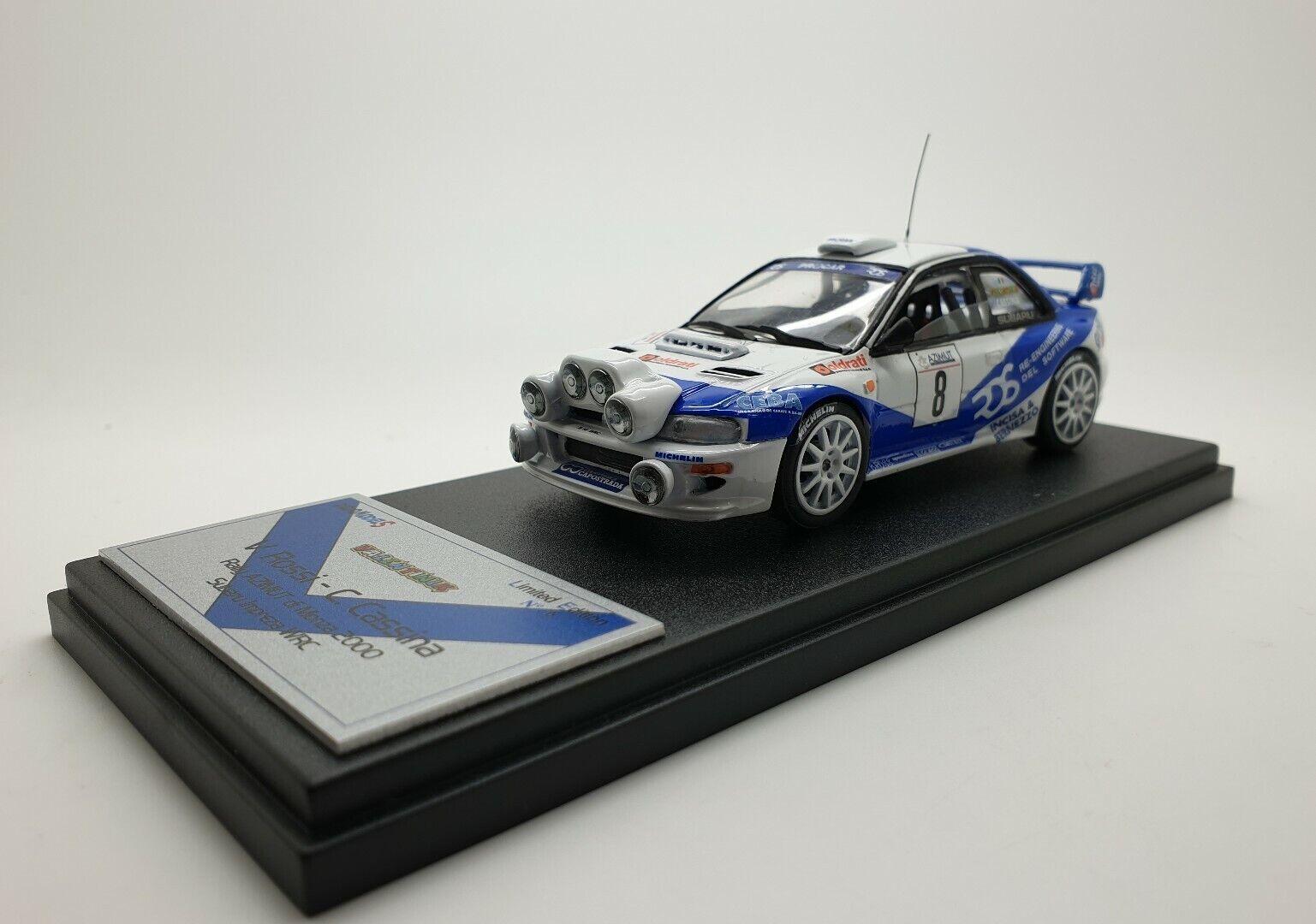 barato en alta calidad 1 1 1 43 Subaru Impreza WRC Valentino Rossi Cochelo Cassina Monza Rally 2000 numero 6  suministro directo de los fabricantes
