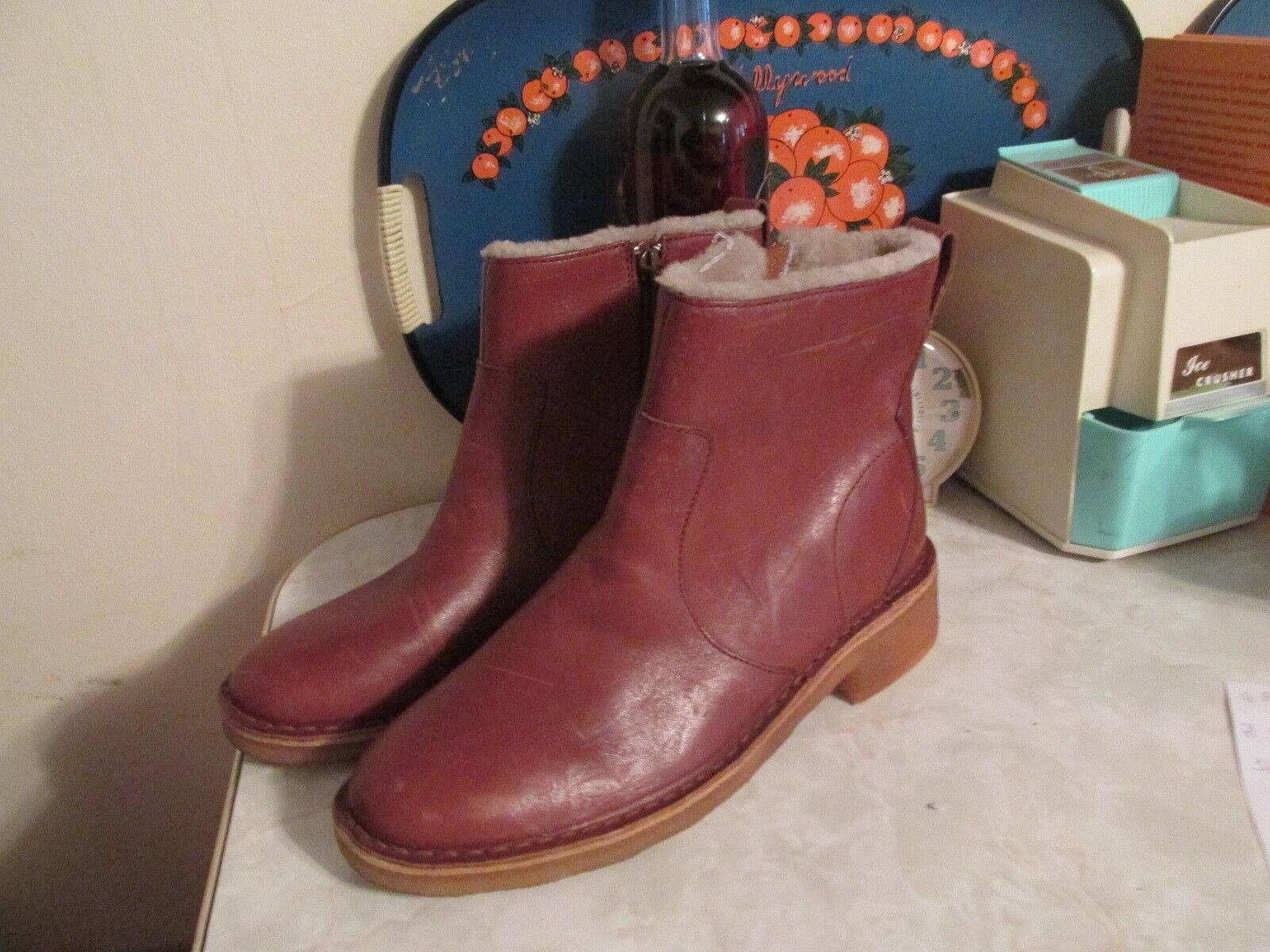 Clarks Maru puede Cognac Cuero Crepe Suela Suela Suela Revestidas botas Para mujeres EE. UU. 9  grandes ofertas