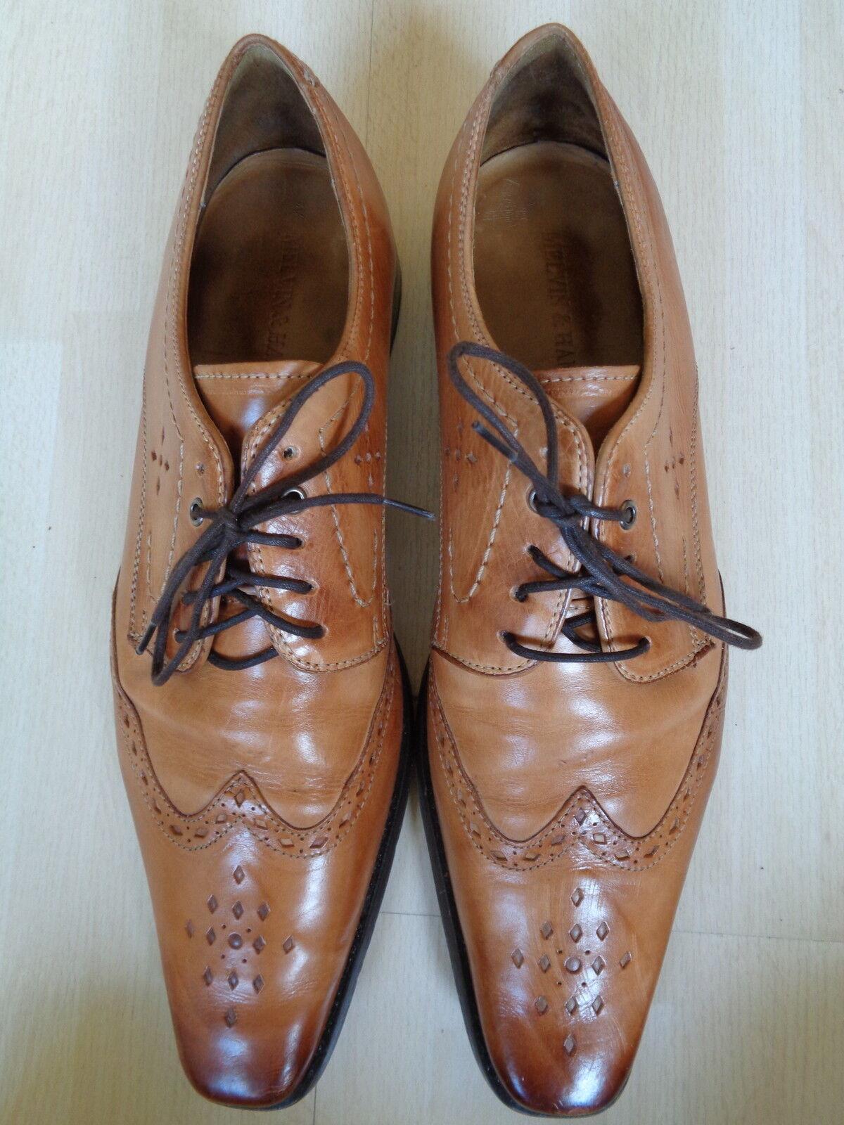 MELVIN & HBMILTON  Leder Buisness Schuhe Gr.44  in Cognac