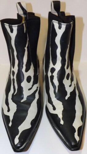 Women's Designer Boots Zebra Animal Print b/w Dolc