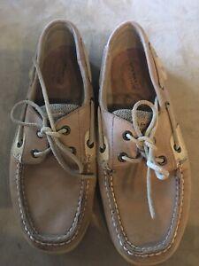 c716c690e43f Image is loading sperry womens boat slip on slide shoes loafers jpg 225x300  Slide tan sperrys