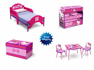 Hello Kitty Toddler Room In A Box Bed Table Storage Free