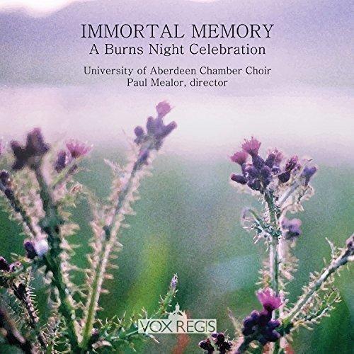 University Of Aberdeen Chamber Choir Paul Mealor - Immortal Memory - A  (NEW CD)