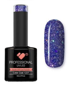1227-VB-Line-Dark-Blue-Silver-Glitter-UV-LED-soak-off-gel-nail-polish