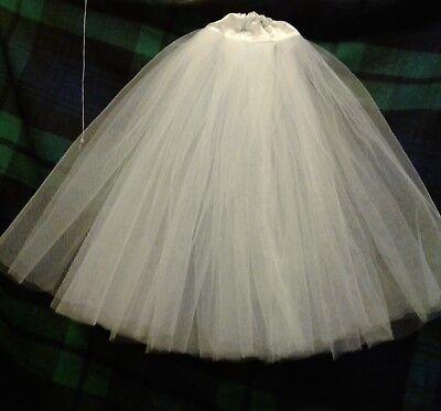 New satin White petticoat//skirt barbie FR silkstone tea length