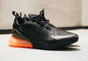 Details about New Nike Air Max 270 Running Shoes Athletic Casual Gym Black Orange AH8050 008