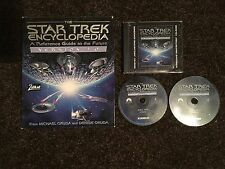 Enciclopedia de Star Trek V3 Original Caja Grande PC CD-ROM/Apple Macintosh Look BH