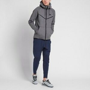 shoes for cheap popular stores best quality Details about NIKE TECH FLEECE WINDRUNNER HOODIE CARBON HEATHER BLACK  805144-091 sz XL