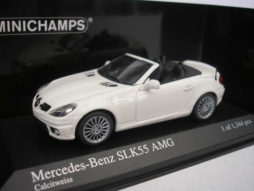 Mercedes Benz SLK AMG (R171) 2008 Calsitweiss 1/43 Minichamps 400033170 Nuovo
