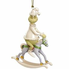 Lenox Grinch Rides a Rocking Horse A Rocking Grinch Christmas New in box