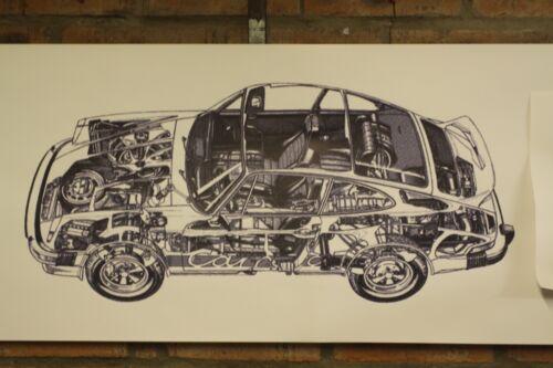 PORSCHE 911 CARRERA PVC grande lavoro Negozio Banner Garage CAR SHOW Banner