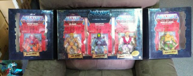 MOTU,Commemorative Masters of the Universe,He-man skeletor man 5 figure set nib