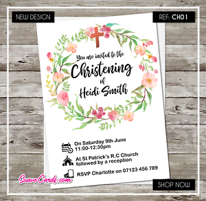 personalised christening invitations baptism invites cards custom