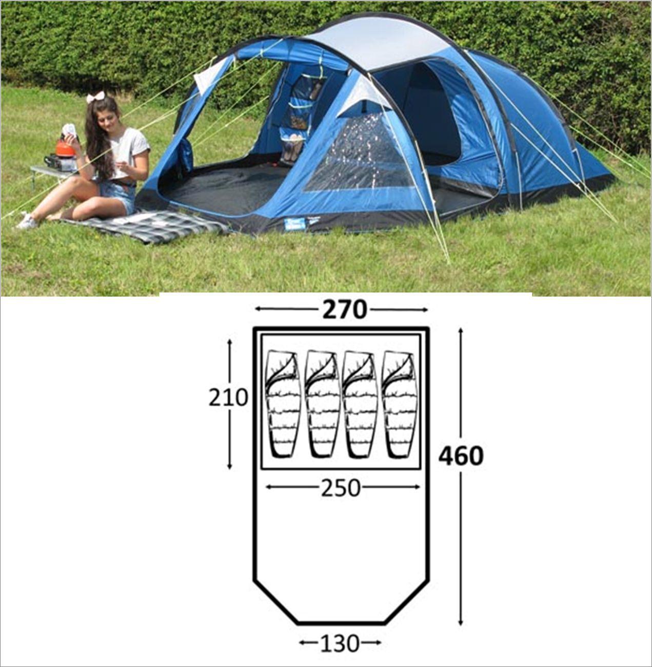 Kampa Mersea 4 berth person man festival camping tent