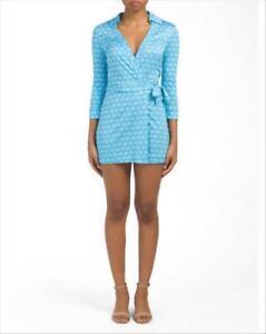 1b9cfe8b8be Details about  398 NEW DVF Diane von Furstenberg CELESTE Long Sleeve Romper  Aztec Blue SILK 14