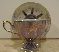 Vintage Blue Lusterware Royal Crown Original ARNART Creations Cup and Saucer