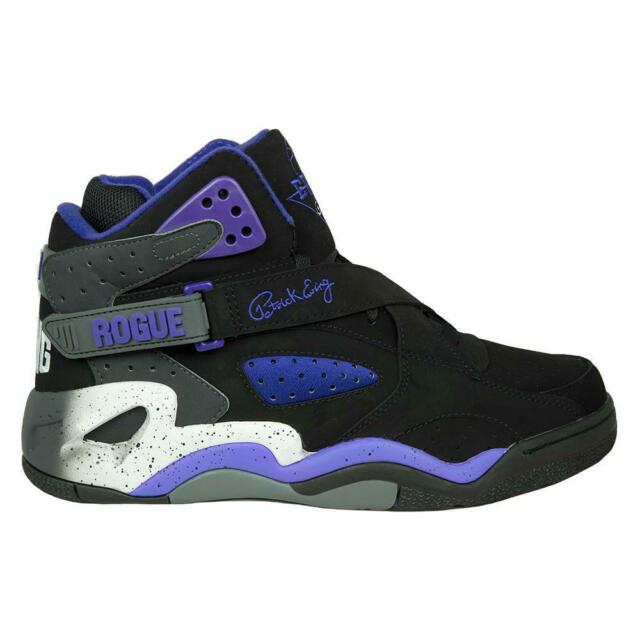 patrick ewing shoes black and white
