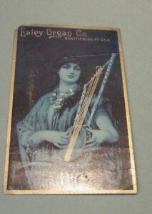 Estey-Organ-Company-2-Victorian-Trade-Card-Lot-Brattleboro-Vermont-Girls-Strings