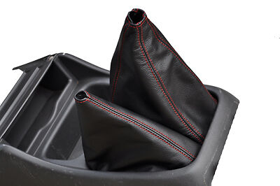 FITS FORD RANGER 4X4 GEAR GAITER LEATHER 00-10 red st