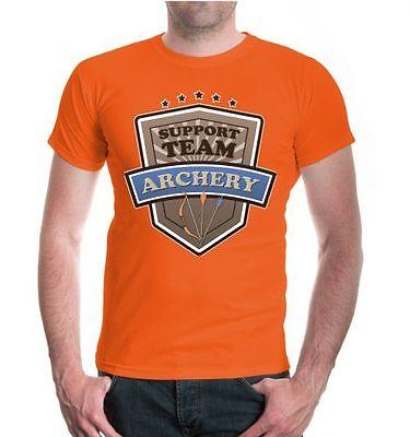 Uomo Unisex A Maniche Corte T-shirt Archery-support Team Arco Sparare Fanshirt Maglia-t Team Bogenschießen Fanshirt Trikot It-it