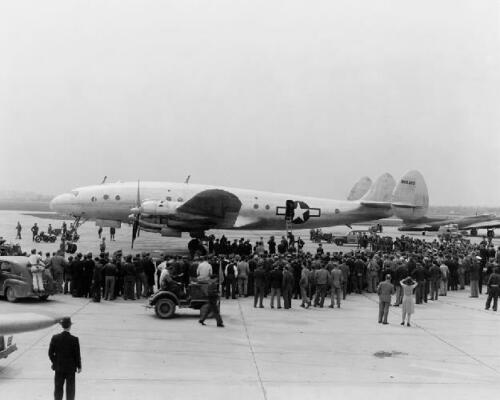 Lockheed C-69 Constellation Aircraft WWII 8x10 Photo J-270