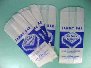 Sammy-Barra-1950s-Helado-Envoltorios-Kenosha-Wis-Lote-de-5