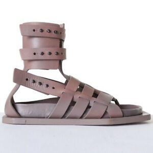 af79817c34e8 new RICK OWENS Runway Cyclops grey leather angular gladiator sandals ...
