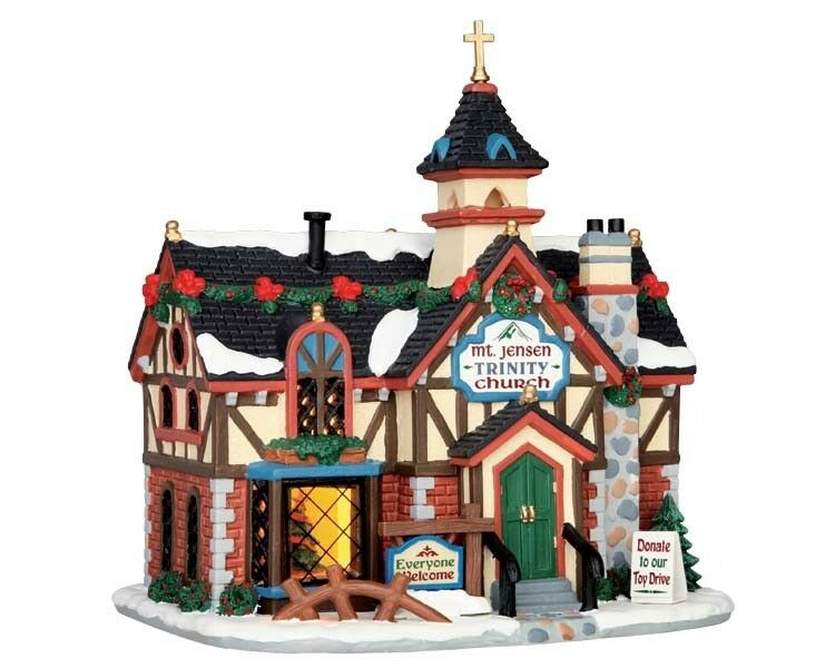 LEMAX RUSTIC Church, villaggio natalizio, villaggio villaggio villaggio invernale, LUCE CASE LED a130ee