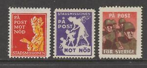 Sweden-Cinderella-Charity-stamp-ML-574-2-MNH-GUM-1-no-gum-hidden-gum