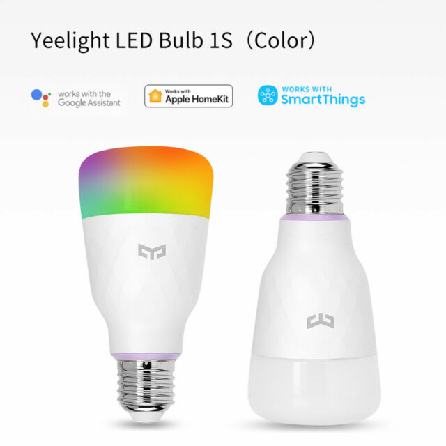 Xiaomi Yeelight Smart RGB Light Bulb LED Color Change Wi-Fi Tunable Dimmable