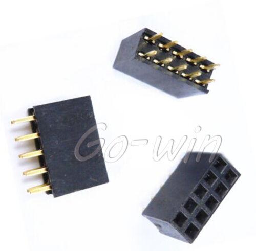 20PCS 2X5 Pin 10P 2.54mm Double Row Female Straight Header Pin Strip