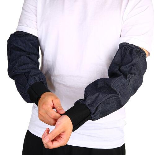 2Pcs Welding Arm Denim Protection Sleeves Wear-resistant Dustproof Sleeves US