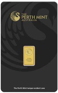 Perth-Mint-Kangaroo-1g-9999-Gold-Minted-Bullion-Bar-Black-Cert-Card-1-Gram