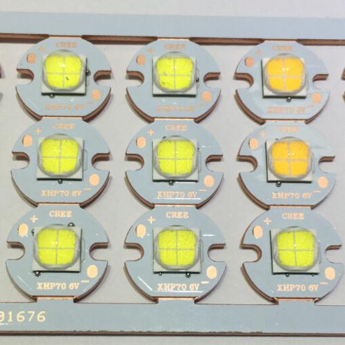 Cree XLamp XHP70 Weiß Warm Weiß Neutral Weiß 6V 12V w  16mm Copper PCB DIY