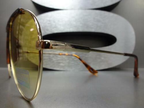 Classico Vintage Lusso Stile Retro Sole Occhiali a Goccia Oro Telaio Giallo Lens