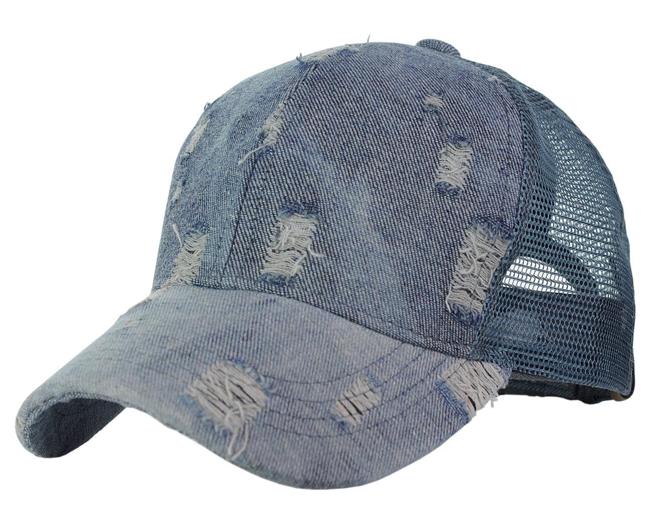 de55303a793 C.c Ponycap Messy High Bun Ponytail Distressed Vintage Mesh Trucker  Baseball Cap for sale online