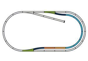 Piko-55320-A-Gleis-Set-C-8-Boegen-2-Gerade-2-Weichen-neu-OVP