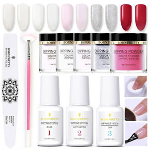10Pcs-BORN-PRETTY-Nail-Dipping-Powder-System-Liquid-Nail-File-Brushes-Pro-Kit