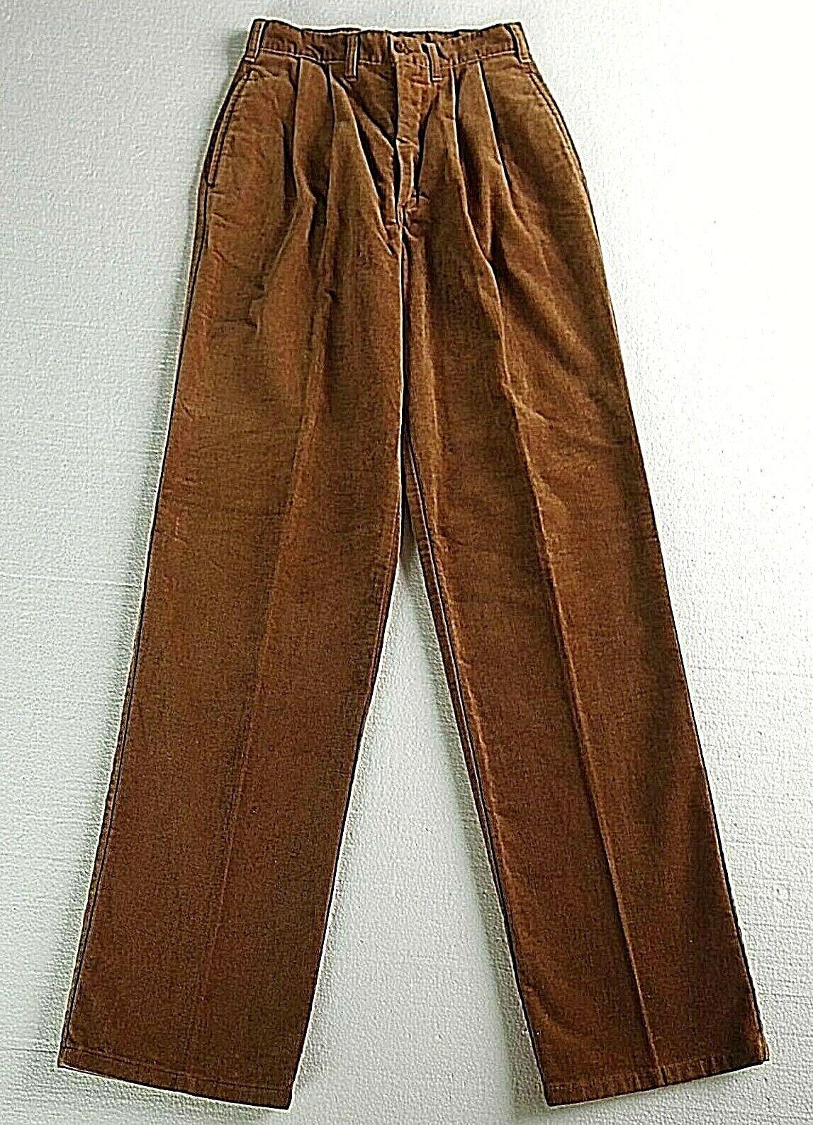 Vintage LANDLUBBER Brown sz 7 Pants Pleats High W… - image 1