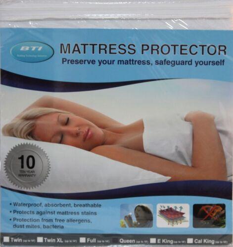 BTI Basic Hypoallergenic Waterproof Mattress Protector Queen Size