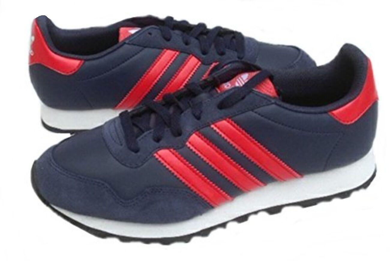 Adidas Herren Ocis Runner Turnschuhe D65672 UK 7.5, 9.5, 11 Marine/Rot Neu