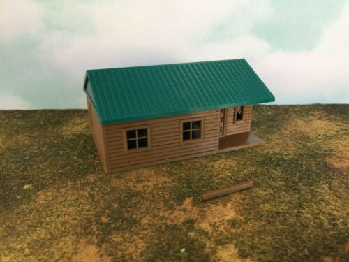 """Camping /""""The Outdoor Series/"""" Cabin #6 Modeled in Color  S Scale 1:64  3D"""