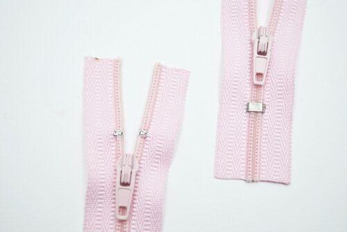 Reißverschluss Kopfkissen Bettwäsche schließbare Länge  135 cm rosa